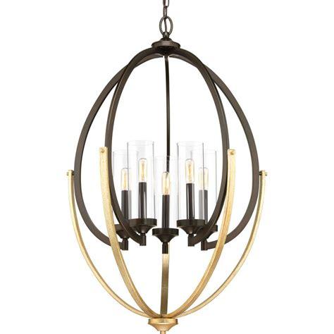 5 light bronze chandelier progress lighting evoke collection 5 light antique bronze