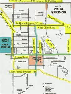 palm california map palm springs map