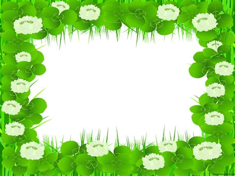 Beautiful Floral Frame Free Ppt Backgrounds Flowers Nature Border Powerpoint Templates Flowers