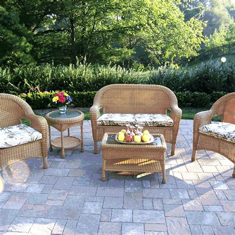 Weatherproof Wicker Patio Furniture Resin Wicker Patio Set Clearance Resin Wicker Patio