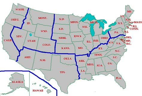 united states map in regions printable us history ii geography cities states regions