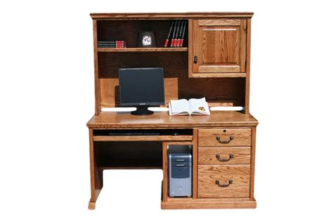 Hardwood Computer Desk Store Your All Office Items Through Computer Desk With Hutch Atzine
