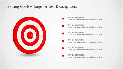 setting up a powerpoint template setting goals template for powerpoint with target darts