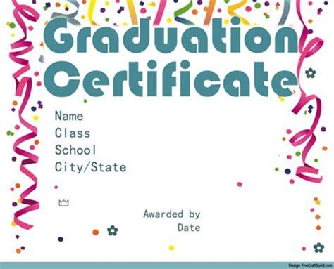 graduation certificate template free free graduation certificate templates