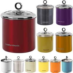 Red Kitchen Canister Set morphy richards tea coffee sugar biscuit cake kitchen