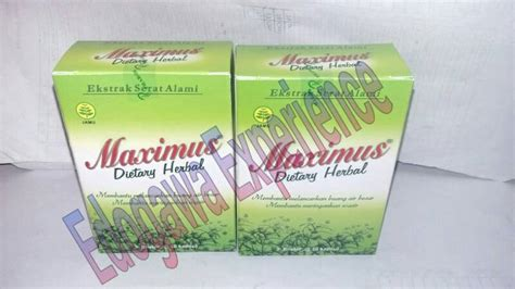 Obat Herbal Maximus Jual Maximus Diet Herbal Edogawa Experience