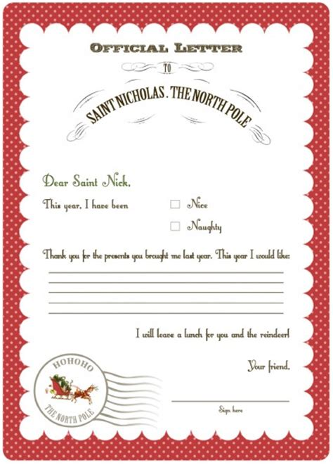 free templates for santa letters whatever wants she s gonna get it