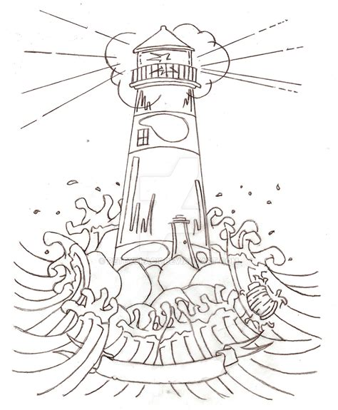 lighthouse tattoo by peteycrack on deviantart