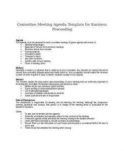 committee meeting template committee meeting agenda template 12 free word pdf