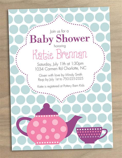 Tea Baby Shower Invitations Ideas by Printable Tea Baby Shower Invitation 15 Shower