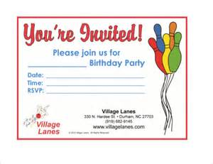 Free Bowling Invitation Template by Sle Bowling Invitation Template 9 Free Documents