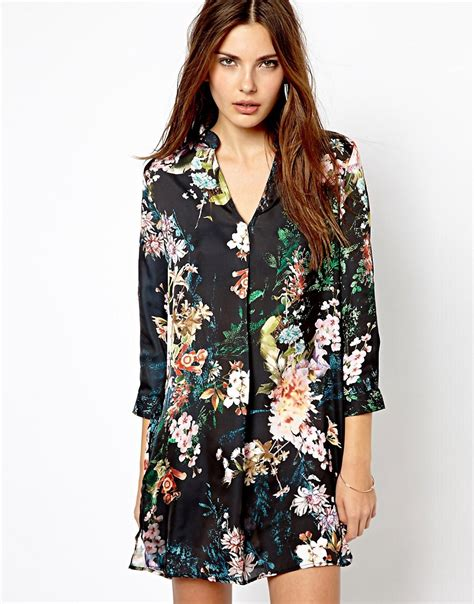 Shirt Dress Floral floral shirt dress fashion gallery