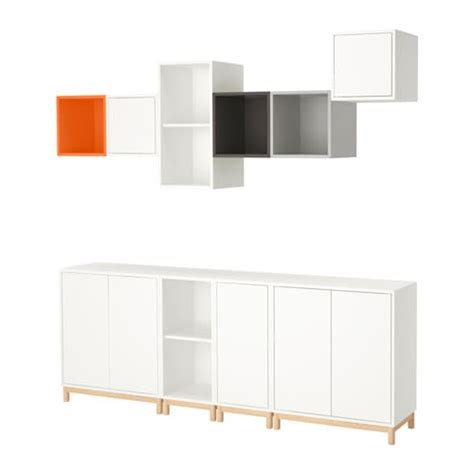 kallax vs eket eket cabinet combination with legs multicolour 210x35x210