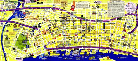 seattle map with hotels map of downtown seattle my
