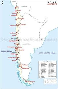 chile south america map airport map of chile maps chile