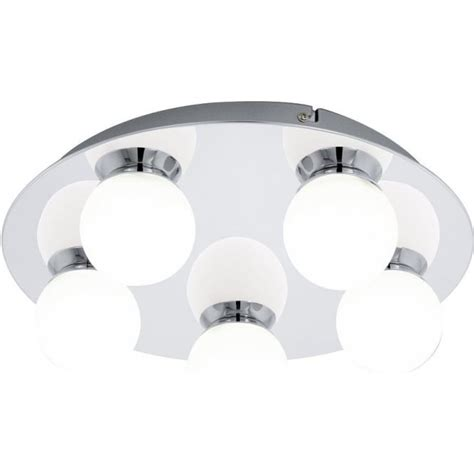 led flush fitting bathroom ceiling light opal glass with chrome ring eglo lighting mosiano 5 light flush bathroom ceiling fitting in polished chrome and opal glass