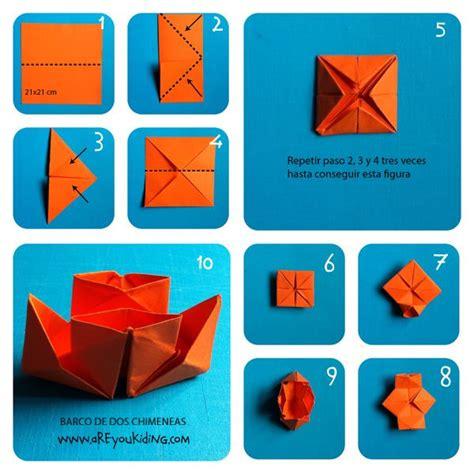 como hacer un barco origami c 243 mo hacer un barco de dos chimeneas con papiroflexia paso