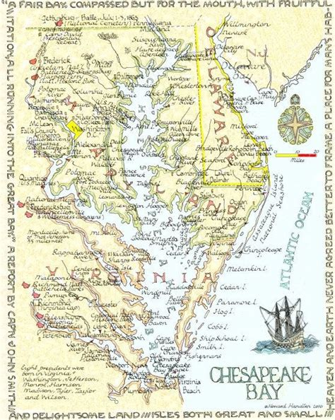 maryland bay map map of the chesapeake bay which separates virginia s