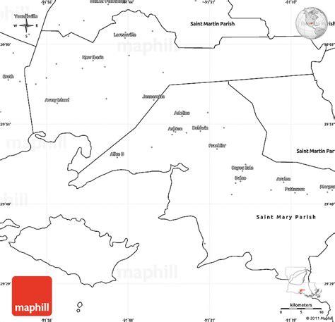 louisiana map blank blank simple map of iberia parish