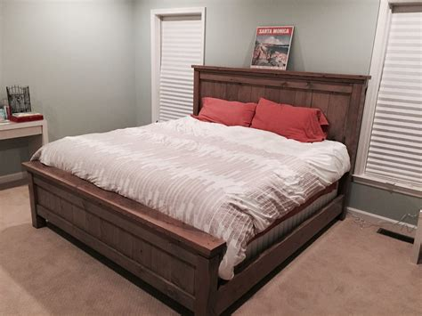 ana white custom king bed frame diy projects