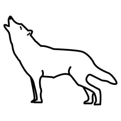 howling wolf coloring pages coloring pages