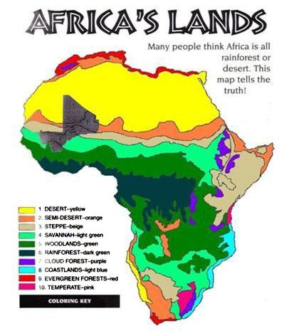 climate map of africa printable map of africa continent map of