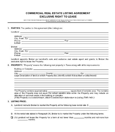 real estate lease agreement template commercial lease agreement template 9 free word pdf