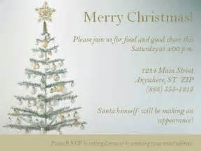 christmas invitation template with christmas tree