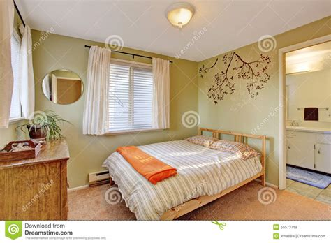 bright green bedroom bright bedroom with green walls stock photo image 55573719