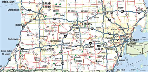 printable road maps of michigan lower michigan map