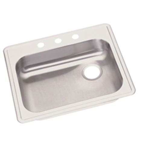 25 Kitchen Sink Elkay Dayton Drop In Stainless Steel 25 In 3 Single Bowl Kitchen Sink Ge12521r3 The Home