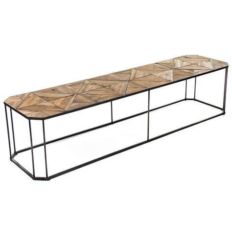 parquet reclaimed wood coffee table kieran reclaimed wood parquet industrial iron bench
