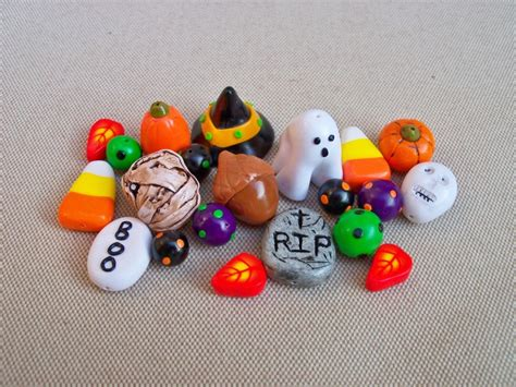 Handmade Polymer Clay Charms - charms and handmade polymer clay set of 21