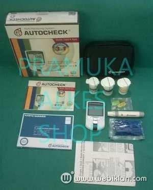 Cek Kolesterol Refill autocheck 3in1 alat cek total kolesterol gula darah dan asam urat web iklan