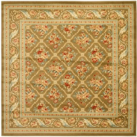 6 X 7 Area Rug Safavieh Lyndhurst Green 6 Ft 7 In X 6 Ft 7 In Square Area Rug Lnh556 5252 7sq The Home Depot