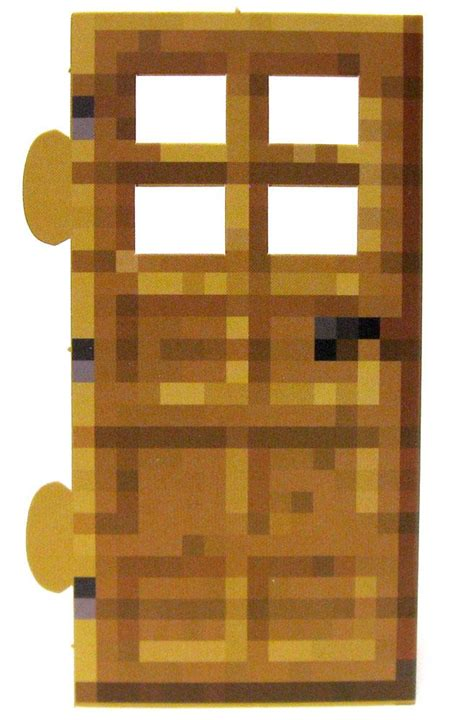 Minecraft Papercraft Door - minecraft wood door papercraft on sale at toywiz