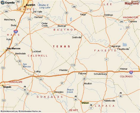 shiner texas map shiner texas maps directions to shiner