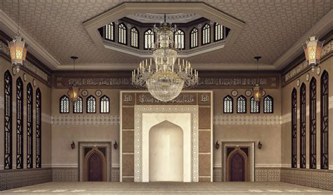 design masjid photoshop el damam west mosque interior design on behance