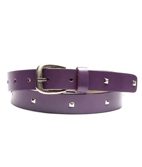 ligans ny purple casual leather belt for buy