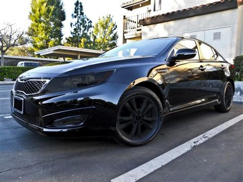 Kia Optima Customized Kia Optima Murdered Out Things That Go Vroom