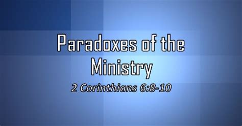 the paradoxes of jesus his sermon paradoxes of the ministry