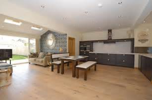 Opening Kitchen To Dining Room Decorating Open Plan Living Dining And Kitchens