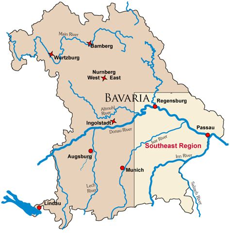 bavaria germany map map of german castle locations in bavaria bayern with