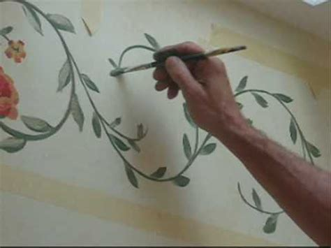 Paint A Wall Mural handpainted border design youtube