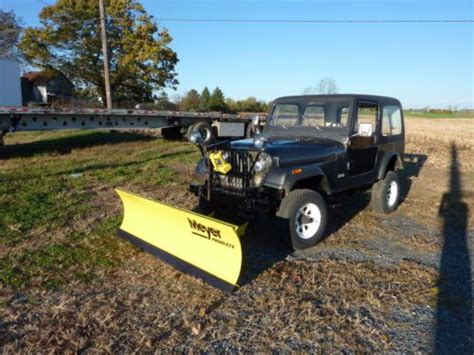 Jeep Plow Sell Used 1984 Jeep Cj7 Meyer Snow Plow In Holtwood