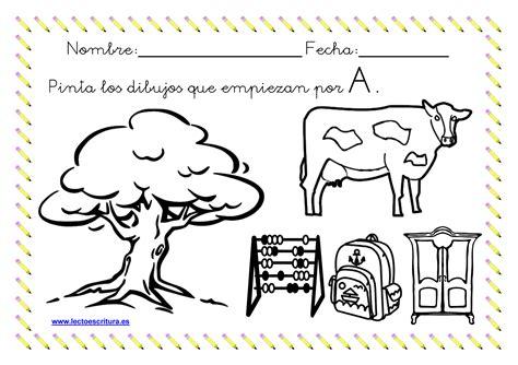 imagenes para pintar que empiecen con a www lectoescritura es ficha colorear dibujos que empiezan