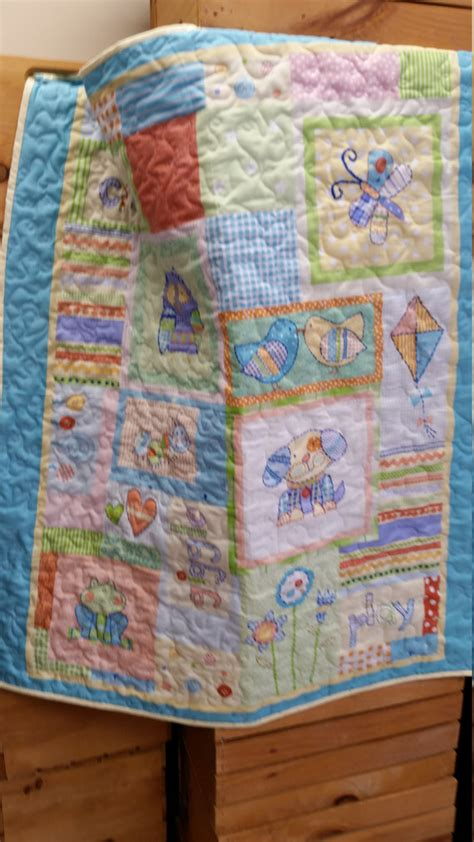 Dimensions Of A Crib Quilt by Handmad Crib Size Baby Quilt Animal Friends Machine Quilted