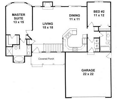 2 bedroom ranch floor plans plan 1179 ranch style small house plan 2 bedroom split it for the home in 2019