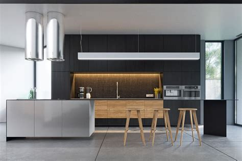 Black And Wood by Outstanding Black And Wood Kitchens That Will Add Style To