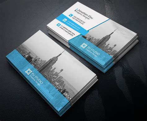 free creative business card psd project 4 business